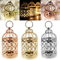 Decorative Hollow Lantern Candlestick Candle Holder Tea Light Mini Party Wedding