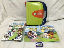 Read & Write LeapPad LeapFrog Learning System w/ Wild Word 2 Books 1 Cartridge +