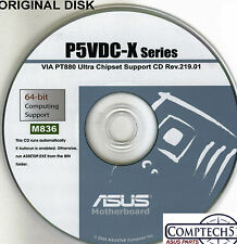 ASUS GENUINE VINTAGE ORIGINAL DISK FOR P5VDC-X Motherboard Drivers Disk M836