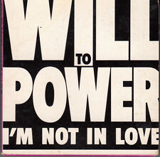"MINI CD 3T - 8 CM  / WILL TO POWER  ""I'M NOT IN LOVE"""