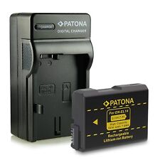 batteria + caricabatt per nikon D5100 NIKON D5200 NIKON D5300 1030 MAH PATONA