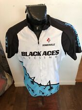 MENS XLarge Sugoi Cycling Jersey Black Aces Cycling