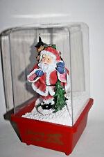 Retro Shop Snow Blowing Lantern 28 cm Merry Christmas Decoration Electric Santa