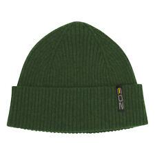 EDZ Derwent Merino Wool Beanie Hat Green