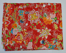 Indian Cotton Fabric Running Craft Loose Screen Print Flower Sewing By The Yard