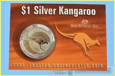 2004 $1 Kangaroo Silver Frosted Uncirculated 1 oz. Coin