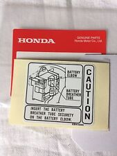 Genuine Honda C50 70 90 Cub Battery Caution Decal Monkey Bike Dax