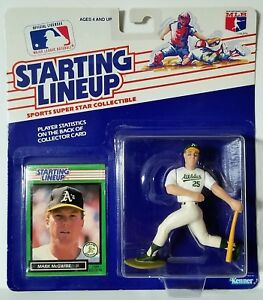 1989 Starting Lineup Mark McGwire Oakland Athletics SLU Kenner Sports Figure MM1