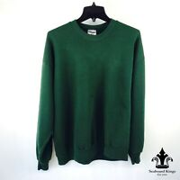 Vintage Jerzees Solid Crewneck Sweatshirt Green Blank Sweater XL