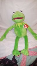 """Pre owned Ty Beanie Disney Kermit Frog 16"""" Plush Collectable"""