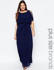 Vestiti da donna blu maxi con girocollo