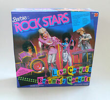 Vintage Mattel Barbie The Rock Stars set Live Concert Instruments Misb 1986