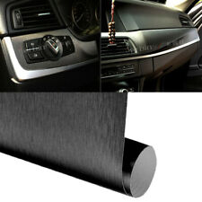 "12""x 60"" Black Brushed Aluminum Vinyl Bubble Free Film Wrap Sticker Decal Air"