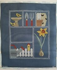 Kathy Schenkel Garden Sampler Needlepoint Canvas Hand Painted 18 Count