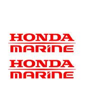 (2) Honda Marine Decals RED Sticker boat fish ski outboard aquatrax jetski