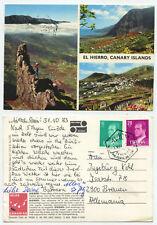 10245-el hierro-Canarias-postal, corriendo 3.11.1983
