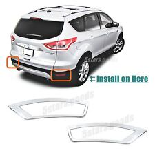 Accessories Chrome Rear Fog Light Covers Trims For 2013-2018 Ford Escape SUV