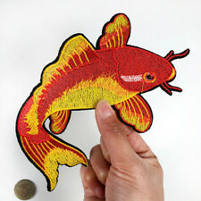 Red Japenese Koi Patch Embroidered Fashion Goldfish sticker Sew Iron on Applique