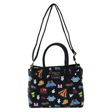 Loungefly Disney Sensational 6 Minnie Mickey Donald Crossbody Bag Purse WDTB1874