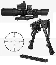 Tactical Kit For Ruger 10/22 With 1-4x28 Scope + Blue Dot Sight + Mount + Bipod
