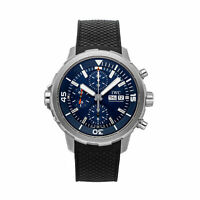 IWC Aquatimer Chrono Expedition Cousteau Auto Steel Mens Strap Watch IW3768-05