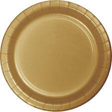 "24 Glittering Gold Wedding Birthday Party Tableware 7"" Paper Dessert Plates"
