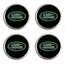 4pcs 63mm LAND ROVER Black Green Logo Emblem Alloy Wheel Center Caps Hub Rim Cap