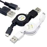 Micro USB Vers USB 2.0 B Mâle Câble Rétractable Données Synchronisation