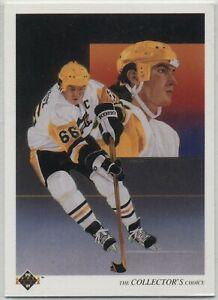 Hockey Card - 1990-91 Upper Deck #305 Mario Lemieux TC, Pittsburgh Penguins used