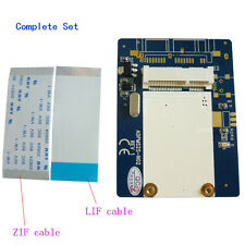 "1.8"" LIF to mSATA SSD adaper 40Pin ZIF CE to mini SATA Card with LIF ZIF cable"