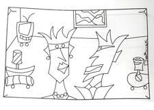 "Barrett Debusk Original Wire Art Wall Hanger ""Love You Madly"" 24.5"" x 38"""