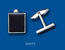 Onyx Sterling Silver Cufflinks for Men
