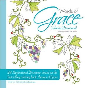 Words of Grace Colouring Devotional by Jacqui Grace Christian Religious Gift