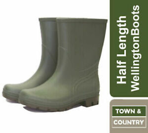 Town & Country Essentials Half Length Wellington Boots  Size 3-12 [Euro 36-43]