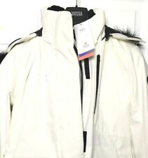 M&S Marks 8 £125 Ivory Luxe Padded Parka Coat Stormwear Detachable Fur Hood BNWT