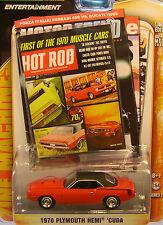 RED 1970 PLYMOUTH HEMI CUDA GREENLIGHT 1:64 SCALE DIECAST METAL MODEL CAR