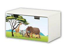 """""""Tierwelt Afrika"""" Möbelsticker Aufkleber für Banktruhe STUVA von IKEA - BT24"""