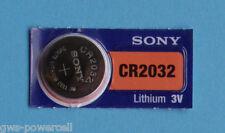1 x Sony Batterie CR2032 Lithium 3V Knopfbatterie CR 2032 NEU OVP
