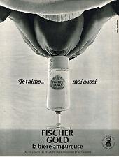 PUBLICITE  1970   FISCHER GOLD  bière