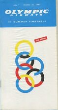 OLYMPIC AIRWAYS SUMMER TIMETABLE JULY - OCTOBER 1983 OA 2ND EDITION