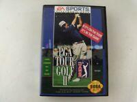 Vintage PGA TOUR GOLF II Sega Genesis, Complete with Case and Manual