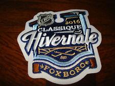 "NHL BOSTON BRUINS WINTER CLASSIC 2016 FOXBORO IRON ON PATCH 4""X 3 1/2"" (FRENCH)"
