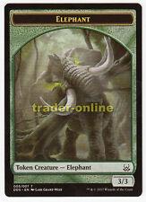 2x TOKEN-Elephant (Green 3/3) (Green 3/3) Mind vs. might magic