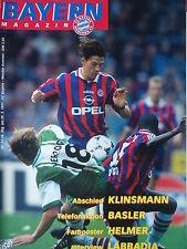 Programm 1996/97 FC Bayern München - Werder Bremen