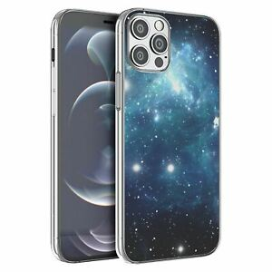 For iPhone 12 & 12 Pro Silicone Case Space Galaxy Stars - S4386