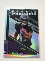 F63251  2019 Donruss Optic Rookie Phenoms Jerseys #33 Justice Hill RAVENS