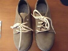 CHEROKEE Saddle Oxfords Loafers Khaki SUEDE LEATHER Nubuck Boys Shoes Size 1 NEW