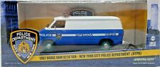 Green Machine 86577 1987 Dodge Ram B250 Van NYPD 1:43 Scale Greenlight Chase