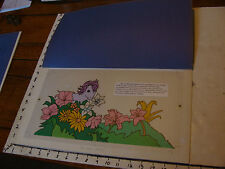 1985 My Little Pony ORIGINAL ART from Magic Rainbow book: BLOSSOM in flowers