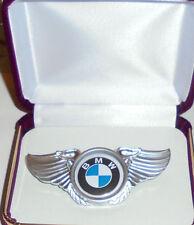 BMW FW Luftwaffe Aircraft Engine Jet Plane Pilot Crew Wing Jacket Hat Pin Badge